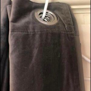 """110"""" grey velvet drapes"""